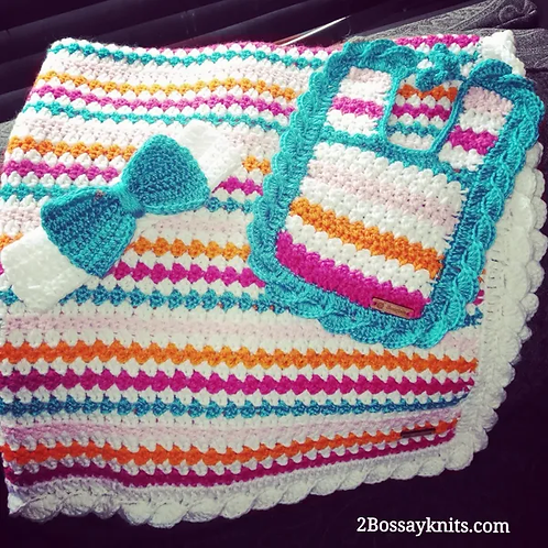 Fruity Stripes Baby Blanket Pattern