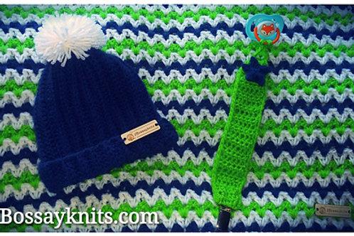 Seattle Stripes Baby Blanket Pattern