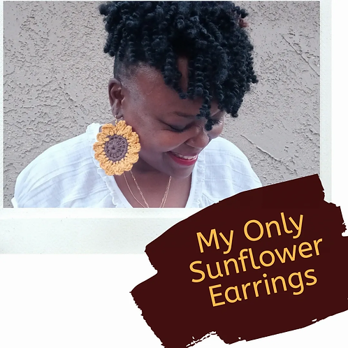 My Only Sunflower Earrings Pattern