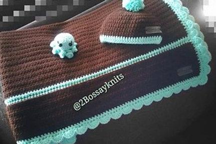 Mint N Chip Baby Blanket Pattern