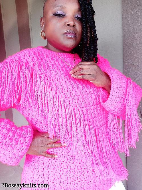 The Fringe Twist Sweater Pattern