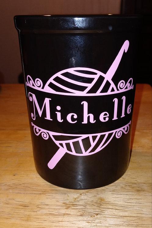Crochet name coffee mug