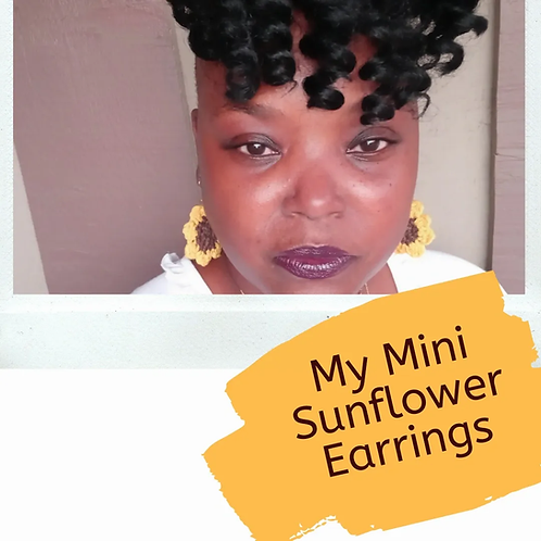 My Mini Sunflower Earrings Pattern