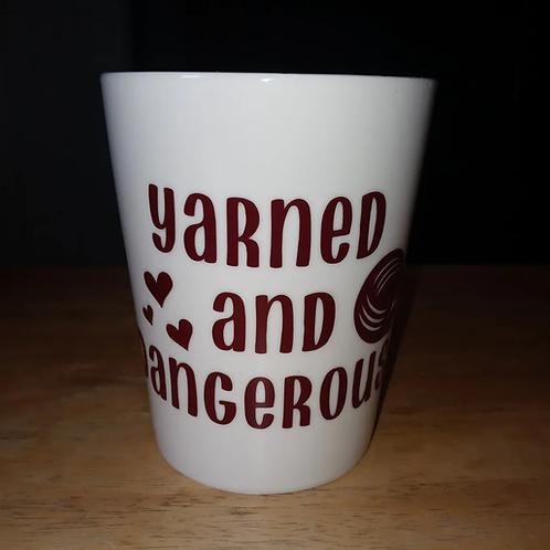 Yarned & dangerous coffee mug
