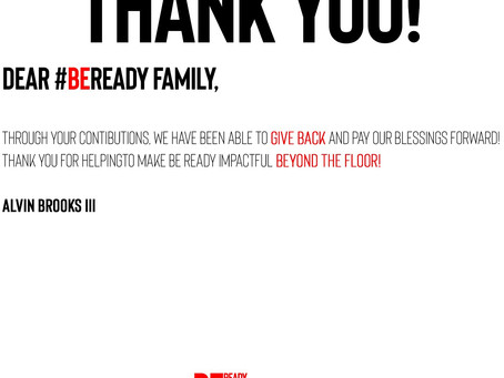 Thank You For Your Support Be Ready Family
