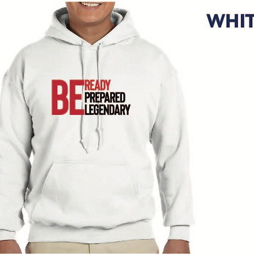 Be Ready (White Hoodie)