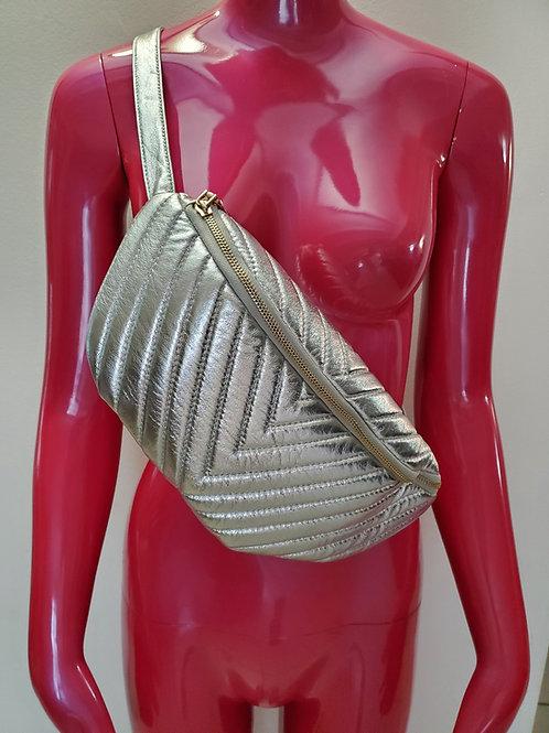 Cute fanny pack / sling silver