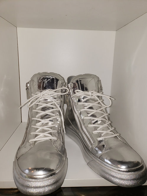 Silver mirrored Giuseppe men's high top