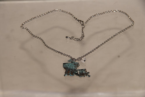 Blue Charm Chain Necklace
