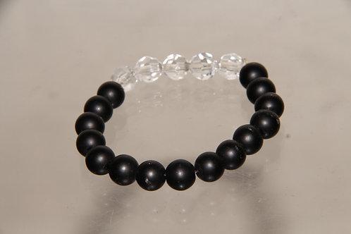 Custom Black and Clear Bracelet