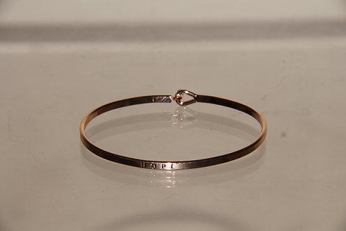 """Rose Gold """"HOPE"""" Bracelet"""