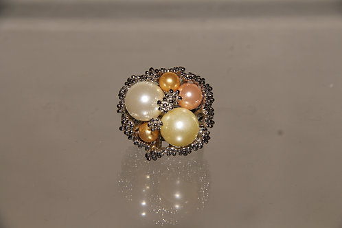 Colored Pearl Ring