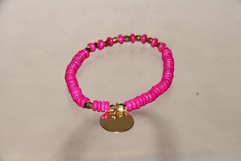 Pink & Gold Bracelet