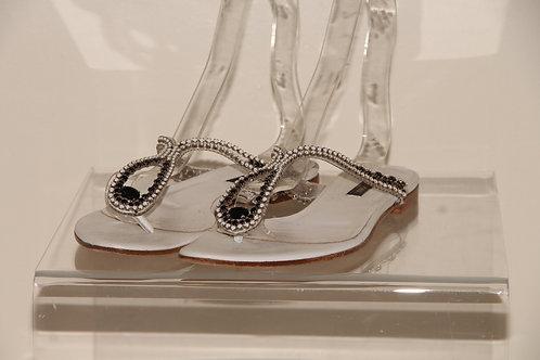 Sergio Rossi crystal  Sandals
