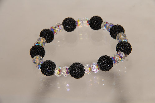 Custom Black Crystal Bracelet