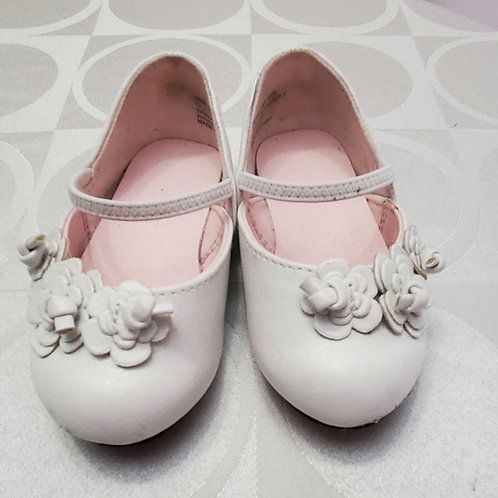 Janie and jack all white baby doll shoe