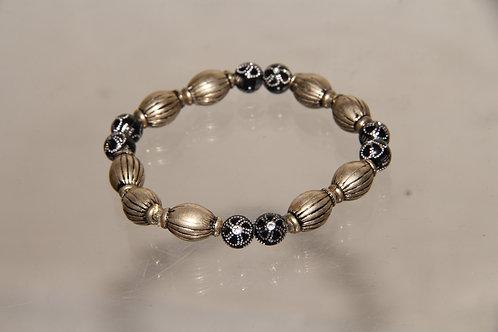 Custom Black and Gold Bracelet