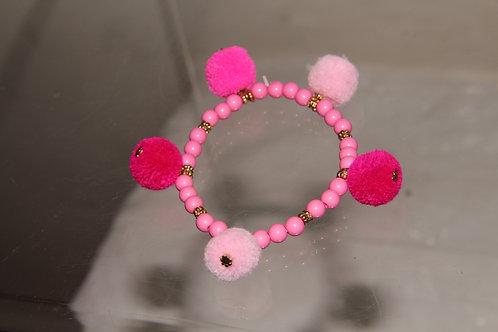 Pink Furry Bracelet