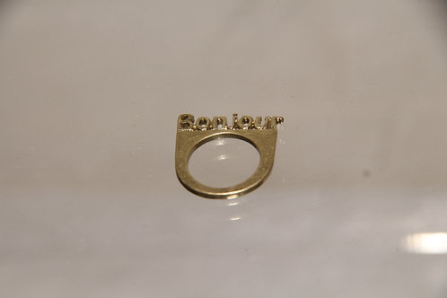 Custom Brass Bonjour Ring