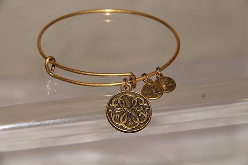 Gold Slim Charm Bracelet