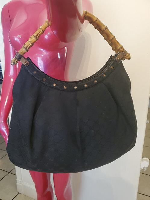 Authentic vintage bamble handle cloth Gucci purse