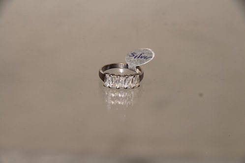 Silver & Crystal Ring