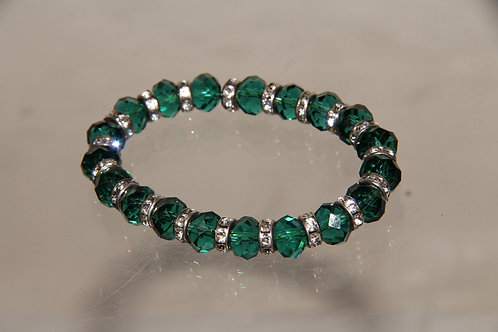 Custom Emerald Bead Bracelet