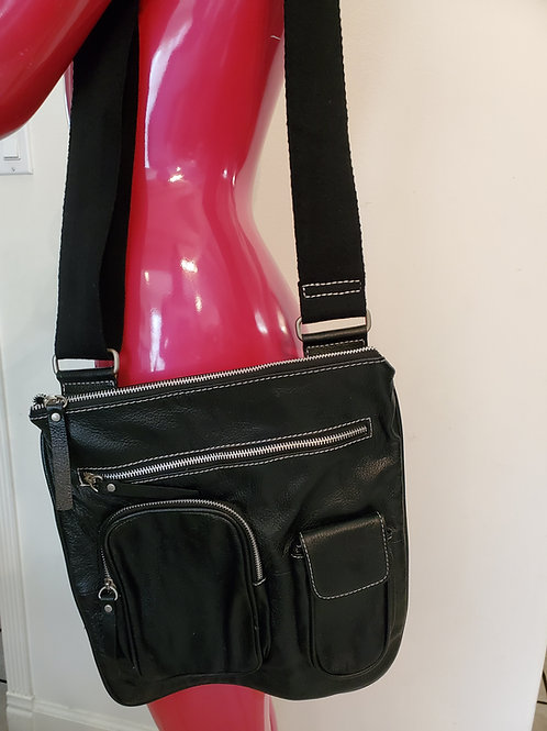 Leather sling bag adjustable strap