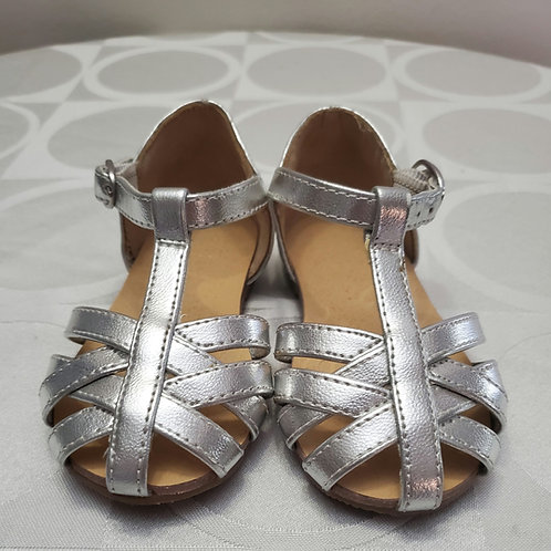 Silver Metallic sandles from Janie and jack