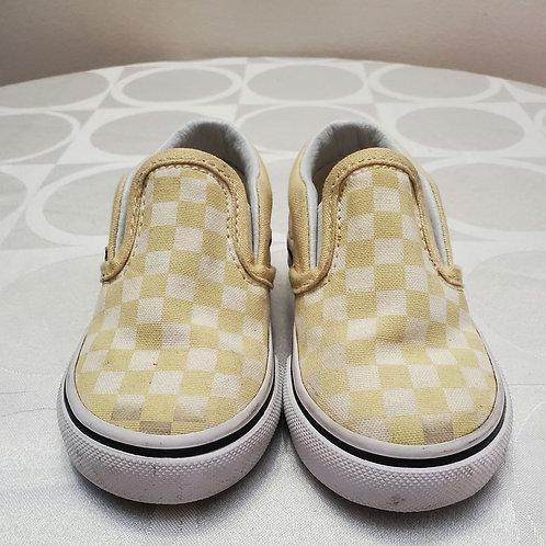 Yellow and white kid vans
