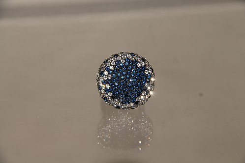 Blue & White Crystal Ring
