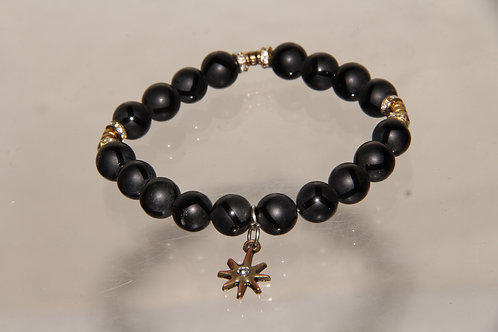 Custom Sun Star Bead Bracelet