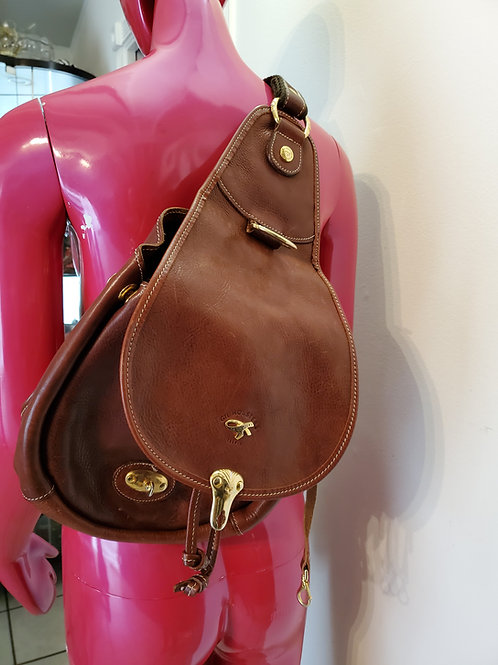 All leather with gold accents sling Hollister Bag