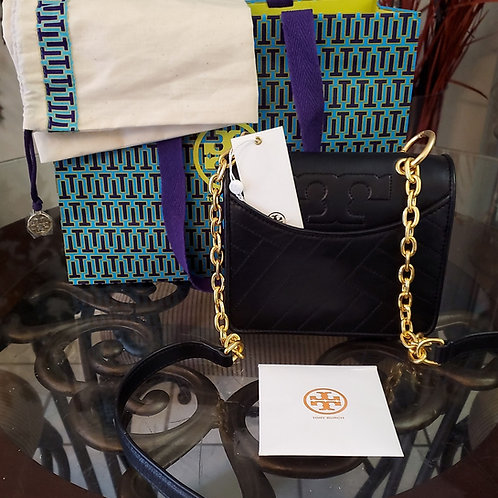Authentic mini Tory Burch leather with gold slinging