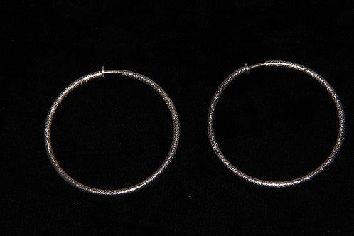 Silver Shimmer Hoop Earrings
