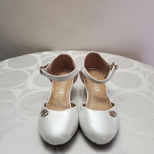 All white dream girl heels