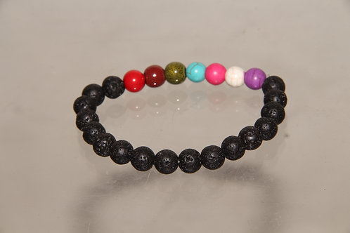 Custom Black Stone and Color Bracelet