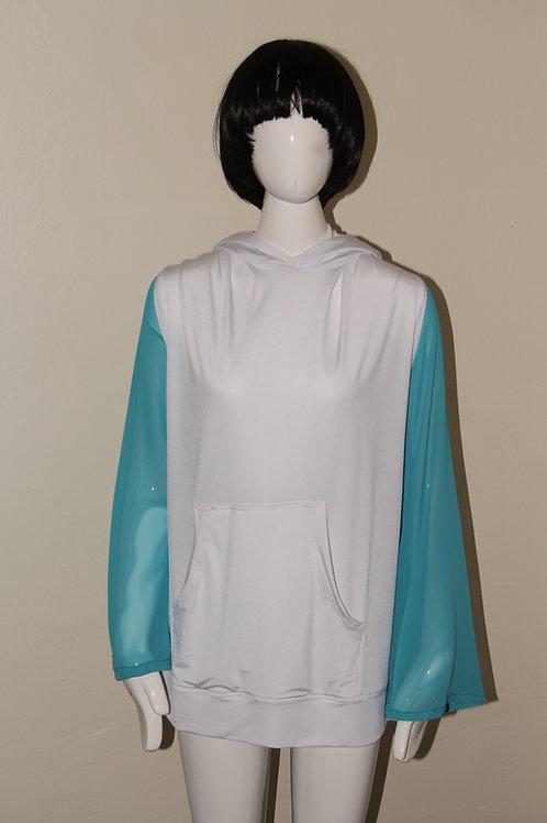 Gary Allen Sheer Sleeve Hoodie Dress