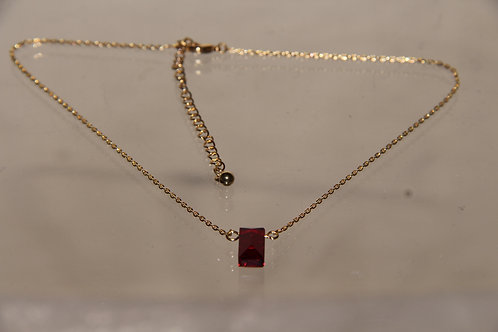 Scarlet Crystal Necklace