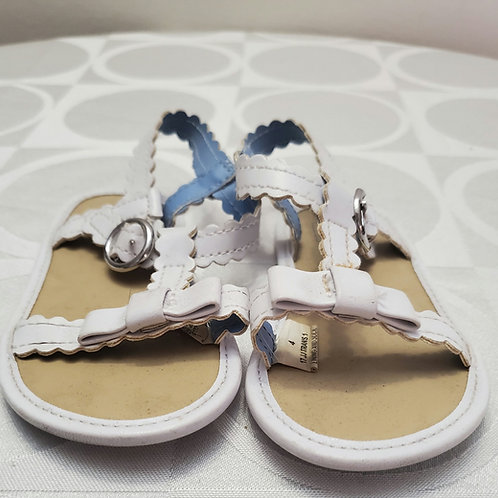 White and blue sandles from Janie and jack