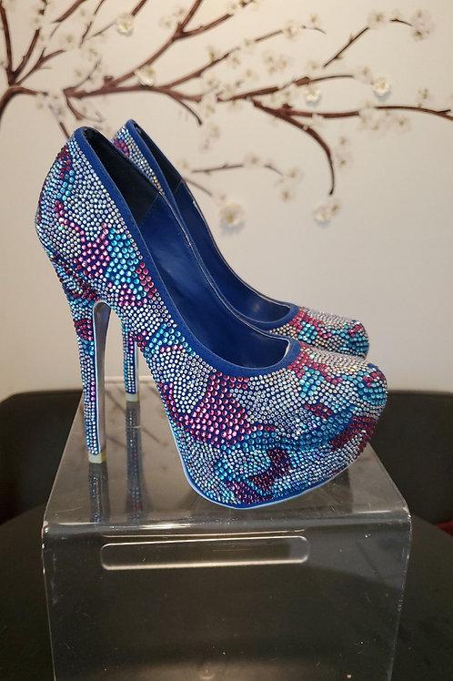 Vigo crystal stack heel