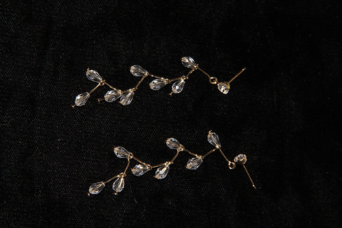 Crystal Bulb Dangle Earrings
