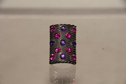 Pink Stone Shield Ring