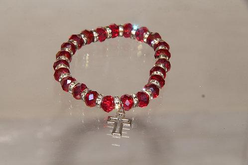 Ruby Cross Bracelet