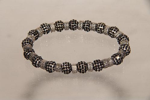 Custom Silver Bead Bracelet