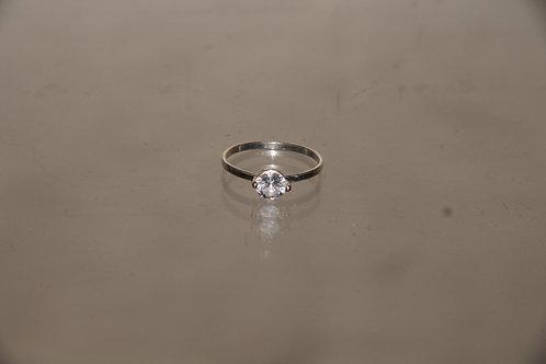 Slim Crystal Ring
