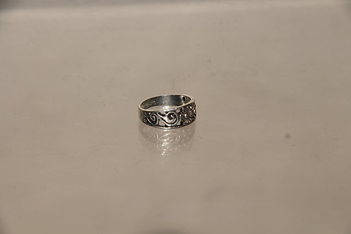 Steel Floral Ring
