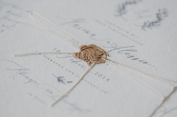 Wachssiegel Hochzeitseinladung Hochzeitswappen Kranzwappen