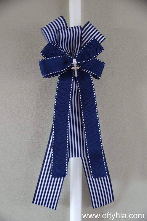 Navy Stripes Cross