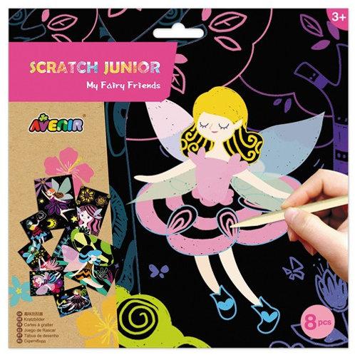 Kratzbild Junior Fairy Friends